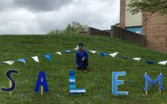 Govinda Lakshmanan finds the Salem display on the hill near the student entrance of the school.